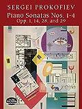 Piano Sonatas Nos. 1-4 Opp. 1, 14, 28, and 29, Sergei Prokofiev, 0486421287