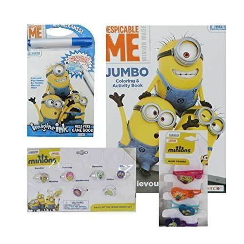 [Minions Gift Pack for Girls Despicable Me Rings Hair Ponies Coloring Book and Imagine Ink] (Despicable Me Costume Walmart)