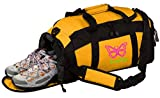 Personalized Butterfly Gym Sports Duffel Bag (Gold)