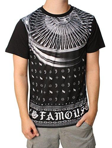 Famous Stars and Straps Mens 100 Spoke Sub T-Shirt, Size: Small, Color (Blk Spoke)