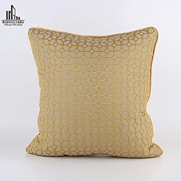 Wunderbar Sofa Kreative Geometrische Muster Kissen Schlafzimmer Bett Braun Kupfer  Dekoration Kissen
