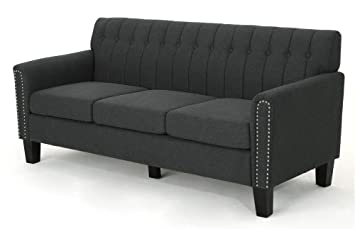 Amazon.com: Noble House Jacopo Traditional Three Seater Sofa ...