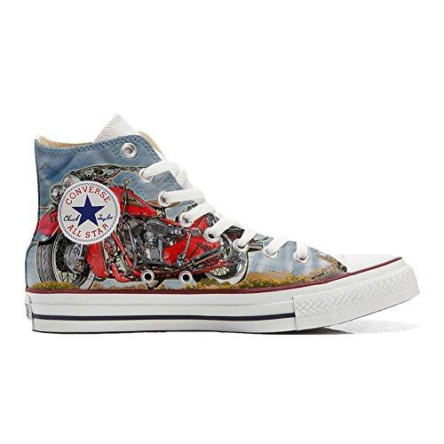 Scarpe Converse All Star personalizzate (scarpe artigianali) Indiana Motor