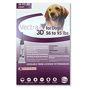 VECTRA 3D Purple for Dogs 56-95 Lbs - 6 Doses 2