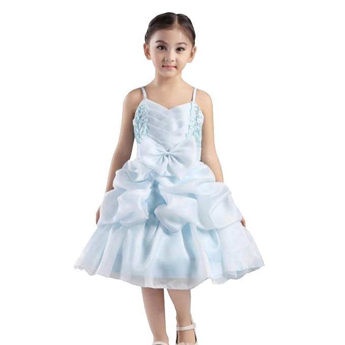Amazon.com: YFCH Vestido de princesa esponjoso para niños ...