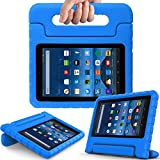 BMOUO All New Fire 7 2017 Case - Light Weight Shock Proof Handle Kid-Proof Cover Kids Case for All New Fire 7 Tablet (7th Generation, 2017 Release), Blue