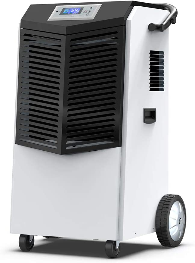 COLZER 232 PPD Commercial Dehumidifier, Large Industrial Dehumidifier with Hose for Basements, Warehouse Job Sites Clean-Up, Flood, Water Damage Restoration – Moisture Removal Up to 29 Gallons Day