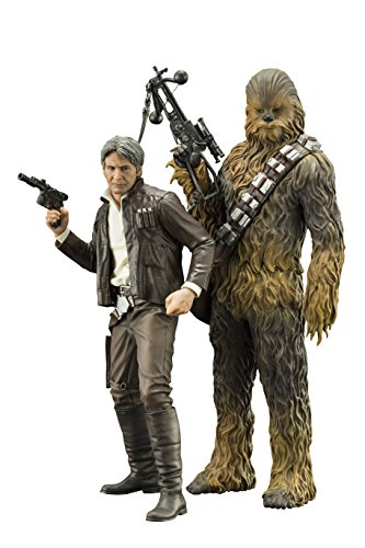 Kotobukiya Star Wars: The Force Awakens: Han Solo & Chewbacca ArtFX+ Statue (2 Pack)
