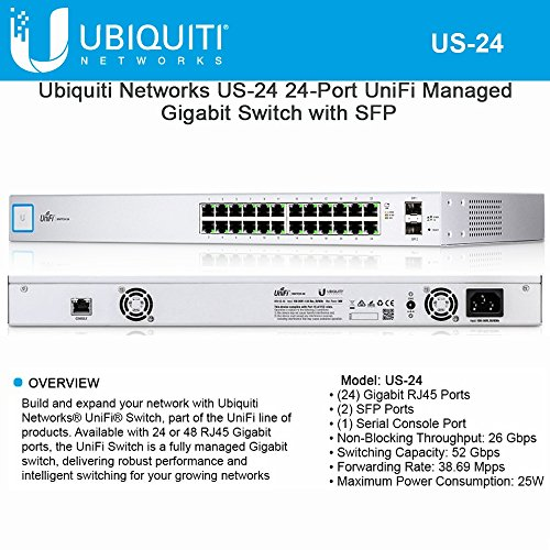 Ubiquiti Networks US-24 24-Port UniFi Managed Gigabit Switch with SFP