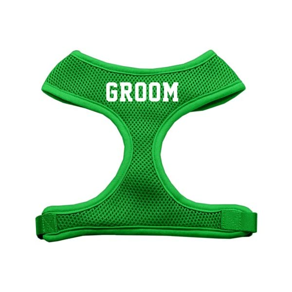 Mirage Pet Products Groom Screen Print Soft Mesh Dog Harnesses, X-Large, Emerald Green 1