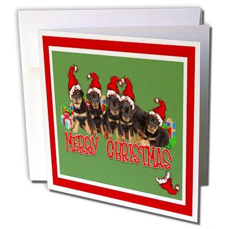 3d Rose 3dRose Merry Christmas - rottweiler, rottweilers,...