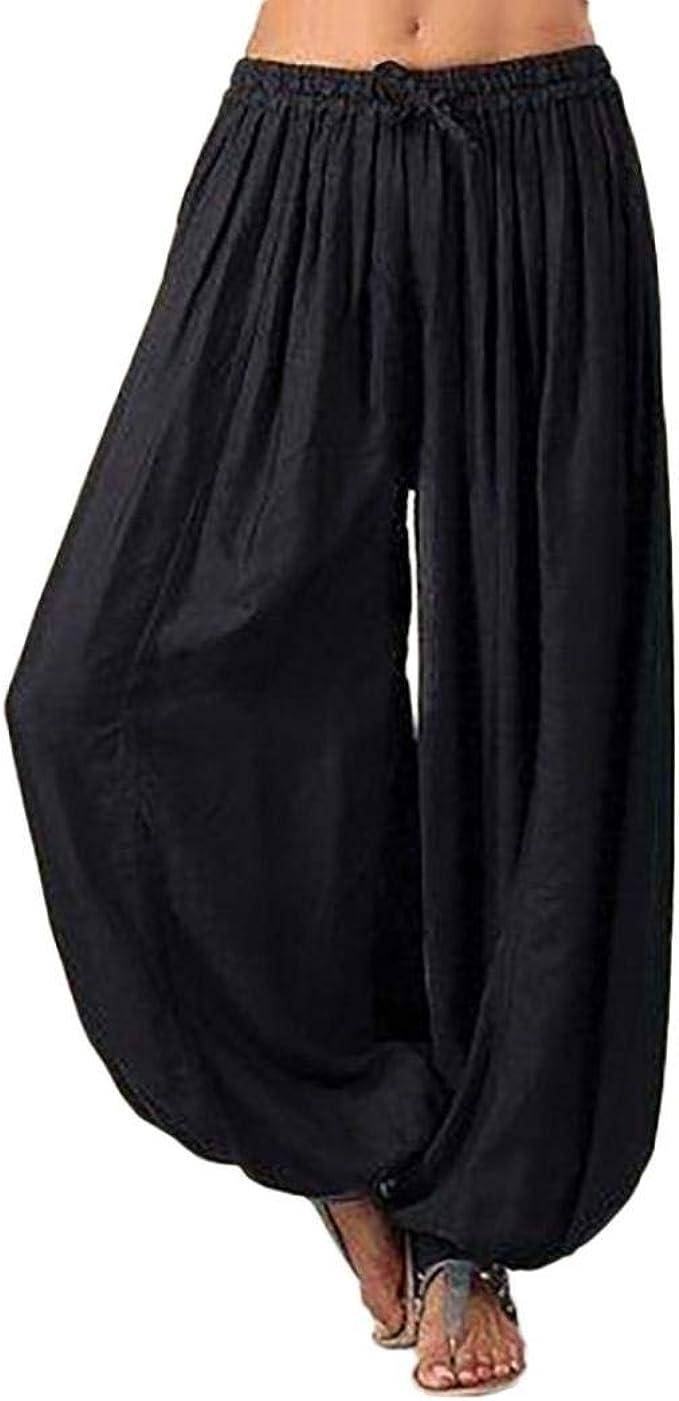 Amazon.com: Despacho Casual Yoga Harem Pantalones Para Las ...