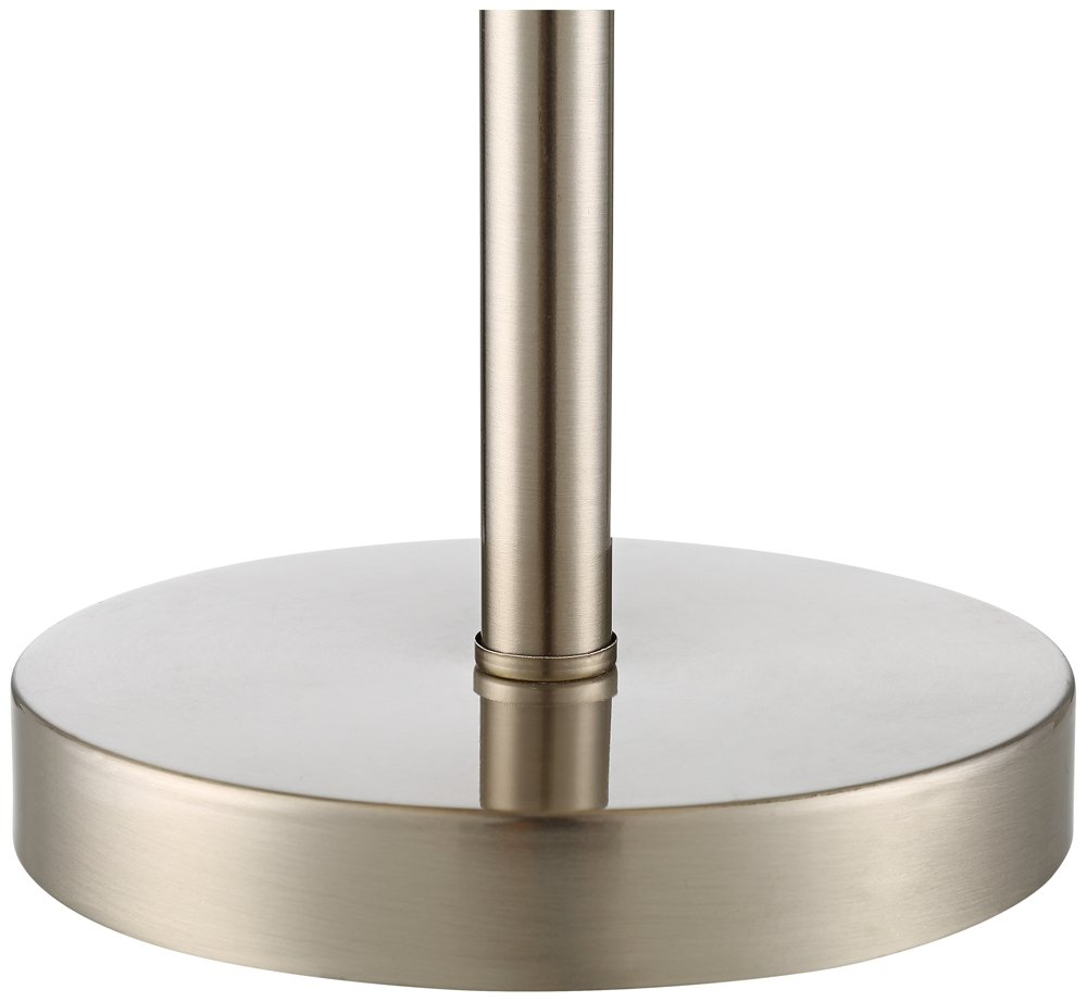 Flesner Brushed Steel 20''H Accent Table Lamp with USB Port by 360 Lighting (Image #4)