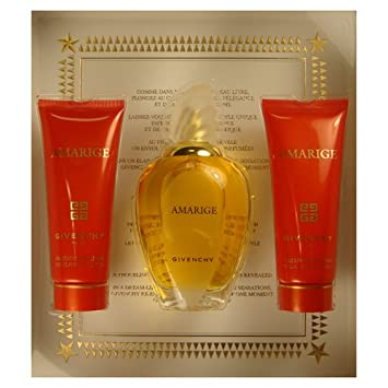 Amarige by Givenchy for Women 3 Piece Set Includes 3.3 oz Eau de Toilette Spray 2.5 oz Silk Body Veil 2.5 oz Gentle Bath Gel