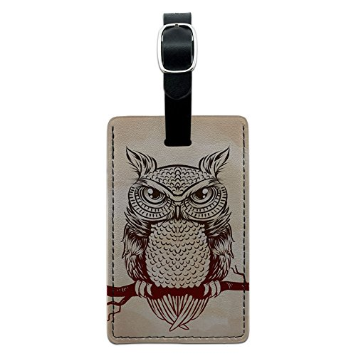 Owl Branch Rustic Suitcase Carry