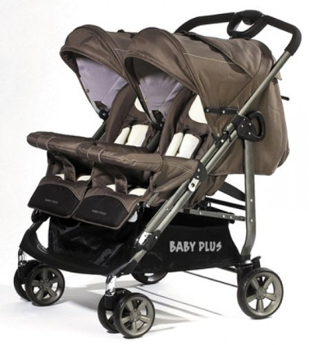 Babyplus Compact Twin - Carrito doble para mellizos o gemelos, color marrón: Amazon.es: Bebé
