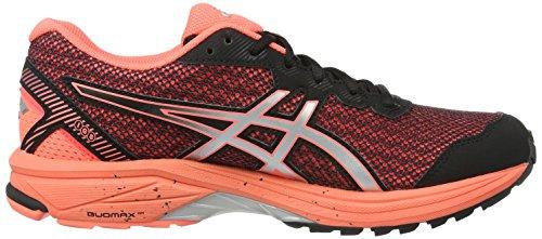 Asics Gt-1000 5 G-Tx, Zapatillas de Running para Mujer Negro (Black/silver/flash Coral)
