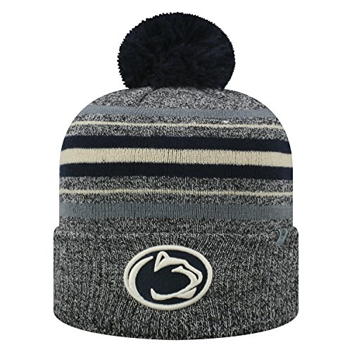 Top of the World Penn State Nittany Lions Official NCAA Cuffed Knit Sock Hop Stocking Stretch Hat Cap Beanie Pom 473314