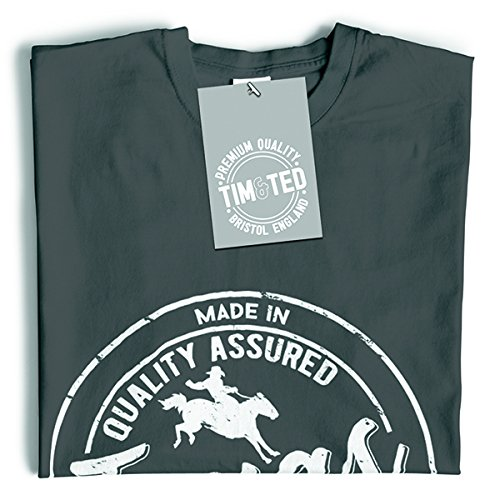 Tim and Ted Made in Texas Austin Houston Dallas NASA Seaworld Distressed T-Shirt Da Donna