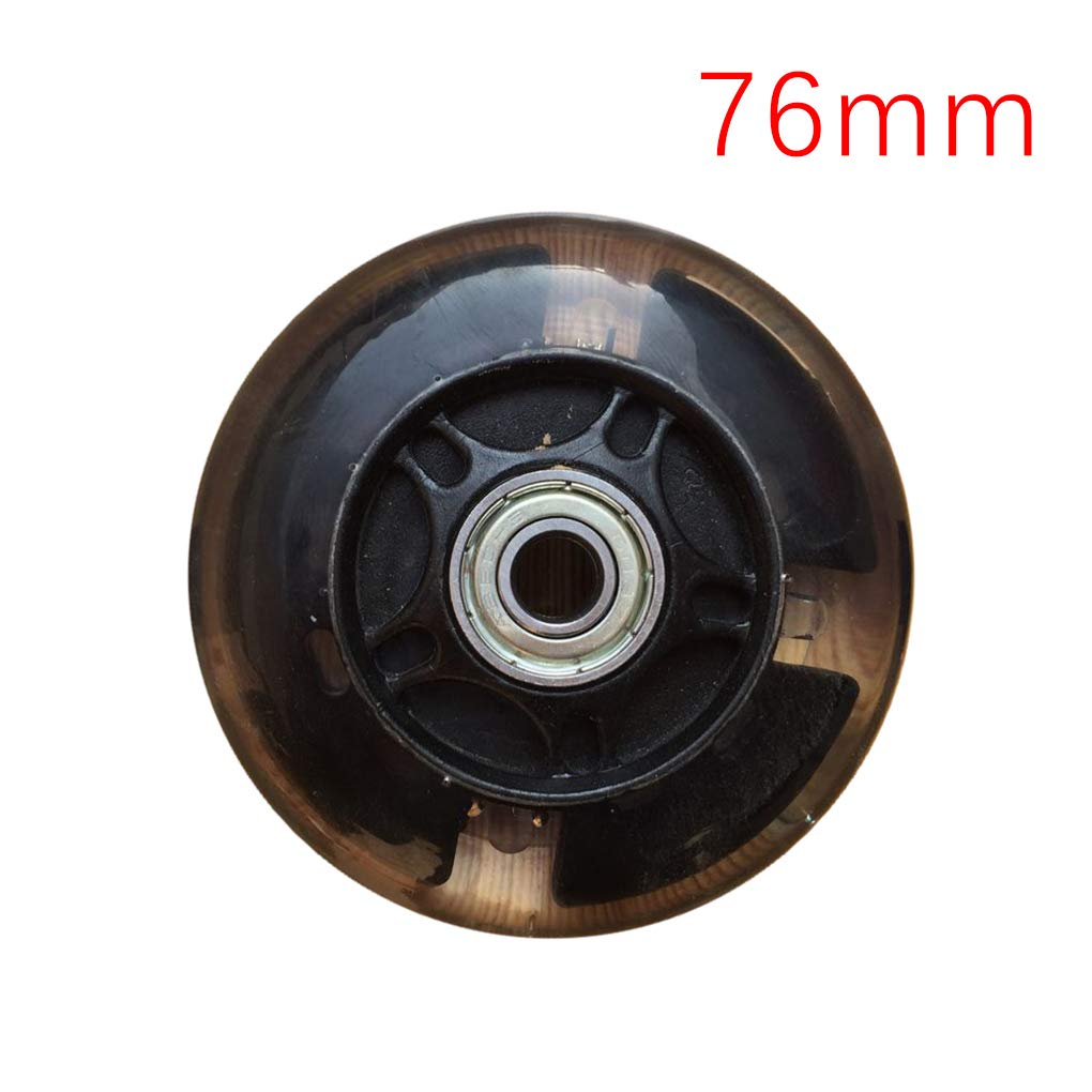 2個 80-120mm LEDフラッシュライトアップホイール ミニマイクロスクーター用 ABEC-7ベアリング2個付き  ブラック B07G81HGJ2