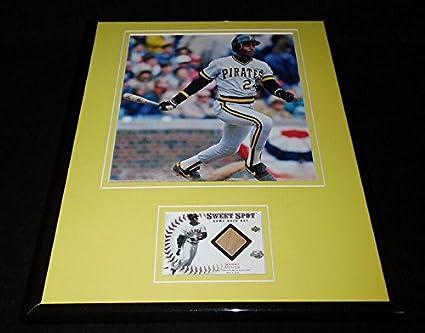 1688b7ae731 Barry Bonds Framed 11x14 Game Used Bat   Photo Display Pirates - MLB ...