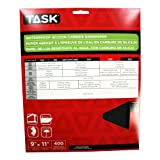 Task Tools PWD54400 9-Inch by 11-Inch Waterproof Silicon Carbide Sandpaper, 400 Grit, 5-Pack