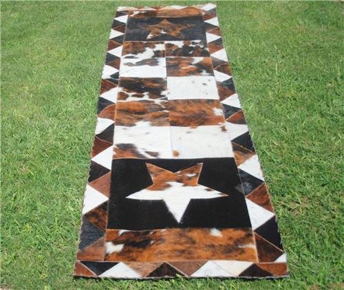 Cowhide Outlet Hall Runner Star 6,0 FT X (Cowhide Table Runners)