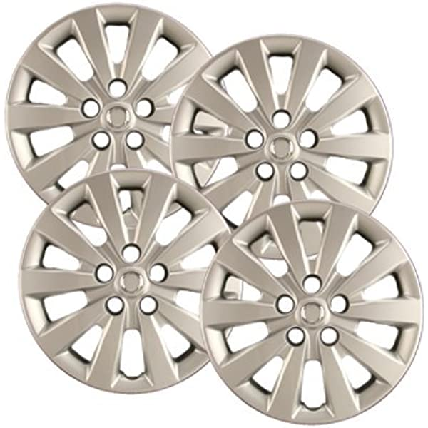 amazon com hubcaps com premium quality 16 silver hubcaps wheel covers fits nissan sentra heavy duty construction set of 4 automotive wheel covers fits nissan sentra heavy