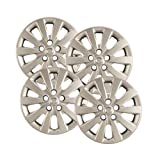 Hubcaps.com - Premium Quality - Nissan Sentra Replica Hubcaps, 16'' Silver Replica Wheel Covers, Heavy Duty Construction, Factory Replacement (Set of 4)