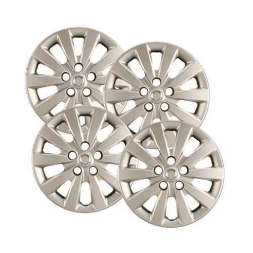 "Hubcaps.com - Premium Quality 16"" Silver Hubcaps / Wheel Covers fits Nissan Sentra, Heavy Duty Construction (Set of 4)"