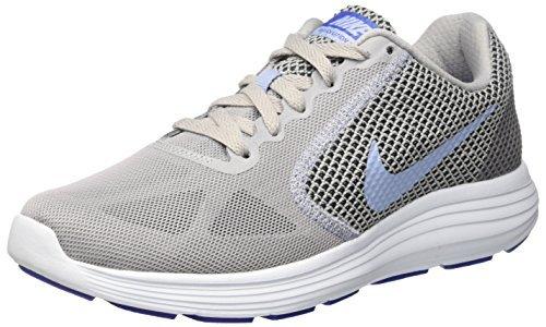 6309050ac Galleon - NIKE Women's Revolution 3 Running Shoe, Grey Aluminum Black Blue  Tint, 5 B(M) US