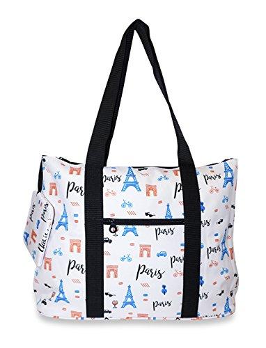 Ever Moda Paris Print Tote Bag X...