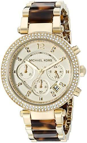 e0bd9ecdffbb 247 bình luận. Từ Mỹ. Michael Kors Women s Parker Gold Tortoise Watch MK5688