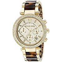 Michael Kors Women's Parker Gold Tortoise Watch MK5688