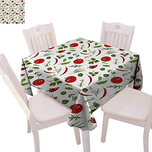 Strawberry Shortcake Lunch Napkins - BlountDecor Vegetables Dinner Picnic Table Cloth Having Dinner Lunch Time Tomatoes Dill Herbs Restaurant Spicy Image Waterproof Table Cover for Kitchen 50