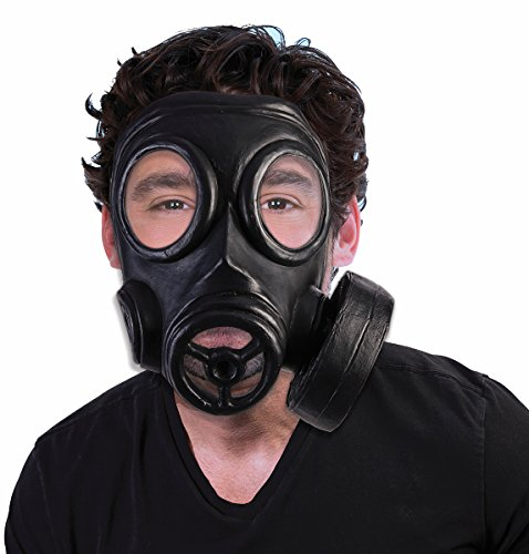 [Adult's Bio-Hazard 1940s Halloween Costume Gas Mask Gasmask Costume Accessory] (Gas Mask Costume Accessory)