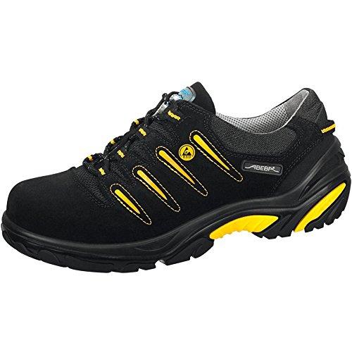 """Abeba 34582-43 talla 43 """"ESD-de peluche"""" de seguridad zapatos bajo - negro/y amarillo"""