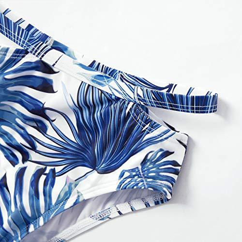 3edac160d2 Yaffi Family Swimwear Mommy and Me Matching Two Piece Swimsuit Palm Leaf  Print Bikini Set 2019