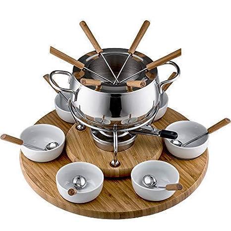 Style n Cook Swiss Fondue Juego de Fondue de Acero Inoxidable Alexa 28 Piezas