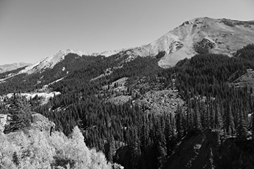 - Vintography 18 x 24 B&W Photo View Red Mountain in The San Juan Range Along The Million-Dollar Highway Between Ouray Silverton, Colorado 2015 Highsmith 54a