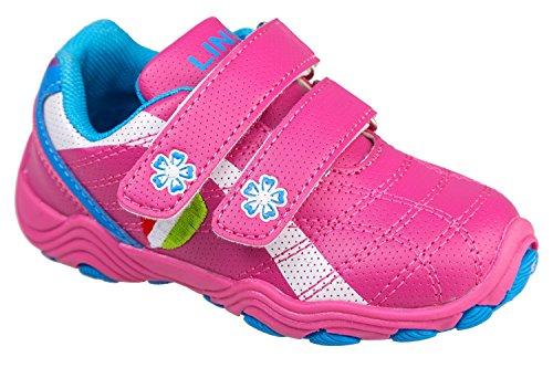 gibra - Zapatillas de Material Sintético para niño Rosa - rosa y azul