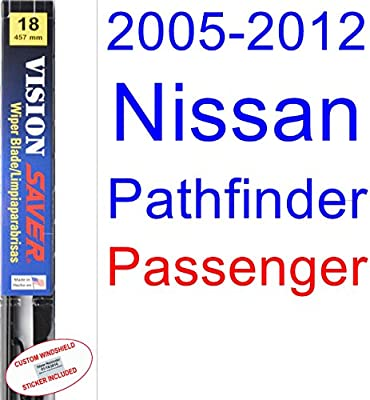 Amazon.com: 2005-2012 Nissan Pathfinder Wiper Blade (Passenger) (Saver Automotive Products-Vision Saver) (2006,2007,2008,2009,2010,2011): Automotive