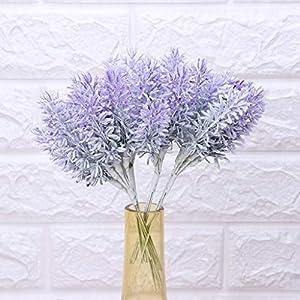 lipiny Artificial Flowers Lavender Bouquet in Purple Artificial Plant for Home Decor, Wedding,Garden,Patio Decoration,5 Pcs Per Bundle 1