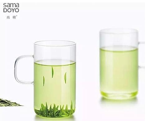 Amazon.com: Samadoyo vasos de vidrio transparente 300 ML ...