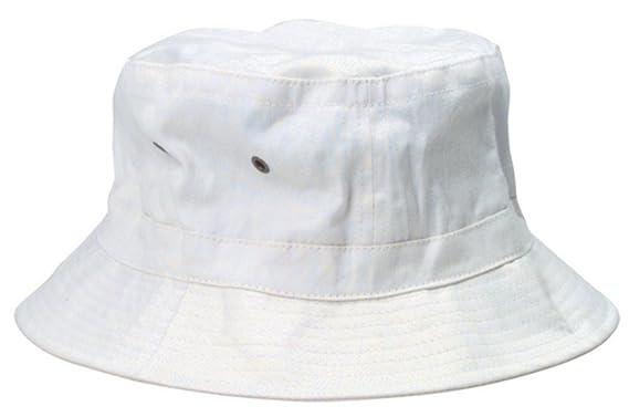 9314c134b937e Amazon.com  White Bucket Hat  Clothing