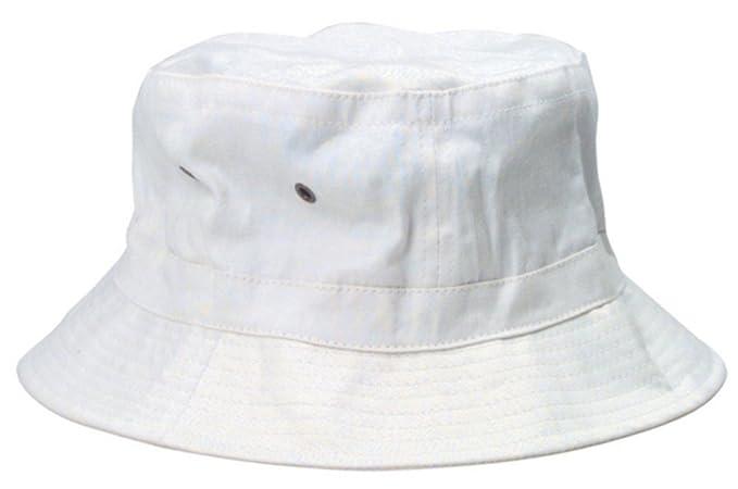 80cba4df7f0 Amazon.com  White Bucket Hat  Clothing