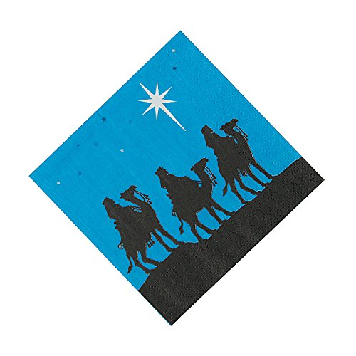 Christmas Party Supplies Nativity Silhouette Napkins (set of 16)