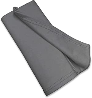 product image for SheetWorld Soft & Stretchy Swaddle Blanket 36 x 36, Dark Grey, Made In USA