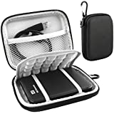 Lacdo Waterproof Hard EVA Shockproof Carrying Case Pouch Bag for Western Digital WD My Passport Studio Ultra Slim Essential WD Elements SE Portable 500GB 1TB 2TB USB 3.0 Portabl 2.5 inch External Hard Drive with Auto Backup