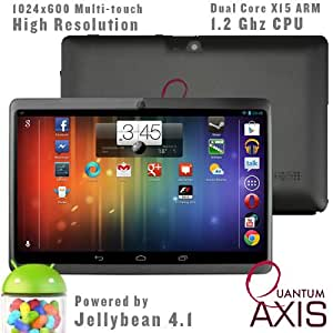 """Axis 7"""" Dual Core, Dual Camera, 1024*600 Capacitive Screen Android 4.1 Tablet PC With HDMI (Black)"""